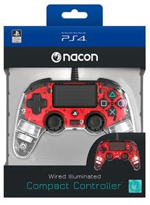 NACON Ctrl Wired Rosso Luminoso PS4