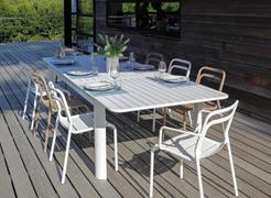 DEXTER. Set tavolo da giardino allungabile 200300 x 100