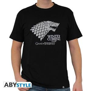 Game Of Thrones. T-shirt Winter Is Coming Man Ss Black. Basic Medium