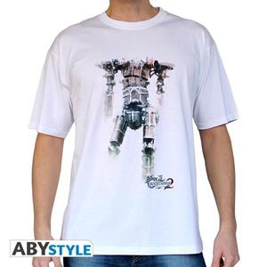 Castlevania. T-shirt Titan Man Ss White. Basic Extra Large