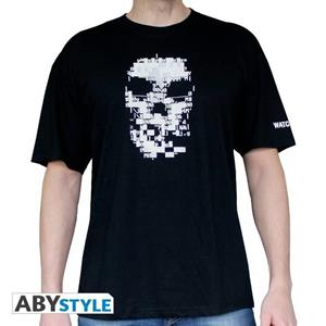 Watch Dogs. T-shirt Clara Man Ss Black. Basic Extra Large