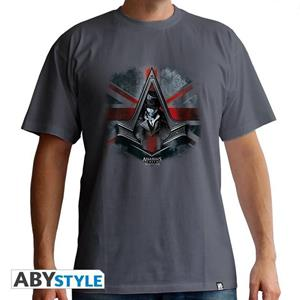 Assassin S Creed. T-shirt Jacob Union Jack Man Ss Dark Grey. Basic Large