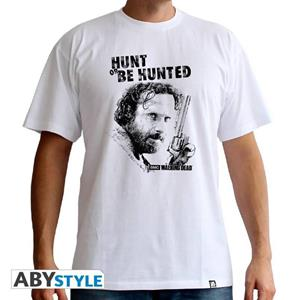 The Walking Dead. T-shirt Hunt Or Be Hunted Man Ss White. Basic Small