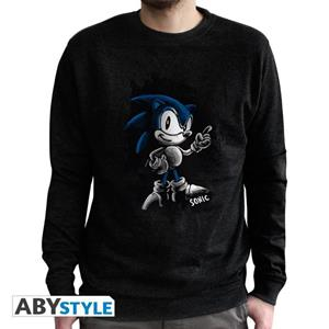 Sonic. Sweat Vintage. Sonic Men Used Black Extra Large