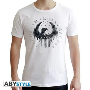 Fantastic Beasts. T-shirt Macusa Man Ss White. New Fit Double Xl