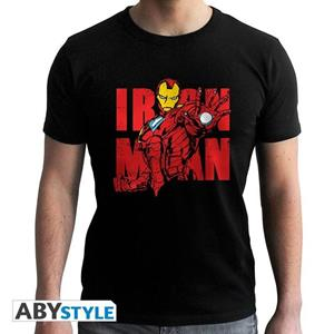 Marvel. T-shirt Iron Man Graphic Man Ss Black. New Fit Extra Large