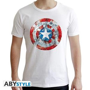 Marvel. T-shirt Ca Classic Man Ss White. New Fit Extra Small