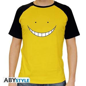 Assassination Classroom. T-shirt Koro Smile Man Ss Yellow. Premium Extra Large
