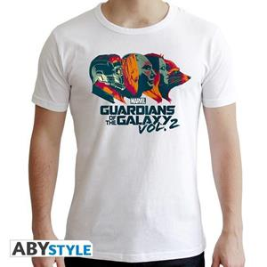 Marvel. T-shirt Profiles Man Ss White. New Fit Extra Small