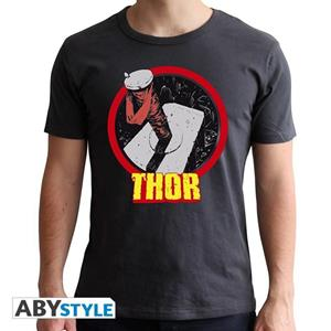 Marvel. T-shirt Thor Man Ss Dark Grey. New Fit Extra Large