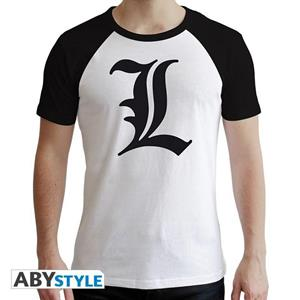 Death Note. T-shirt L Symbol Man Ss White. Premium Extra Large