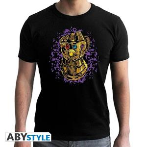 Marvel. T-shirt Infinity Gauntlet Man Ss Black. New Fit Extra Large