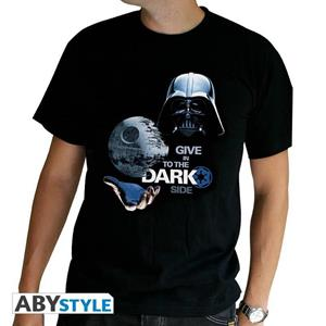 Star Wars. T-shirt Dark Side Man Ss Black. Basic Small
