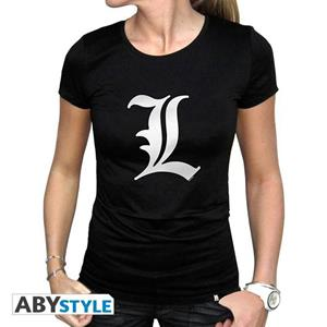 Death Note. T-shirt L Tribute Woman Ss Black. Basic Large