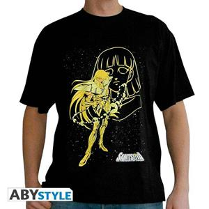 Saint Seiya. T-shirt Virgo Shaka Man Ss Black. Basic Small