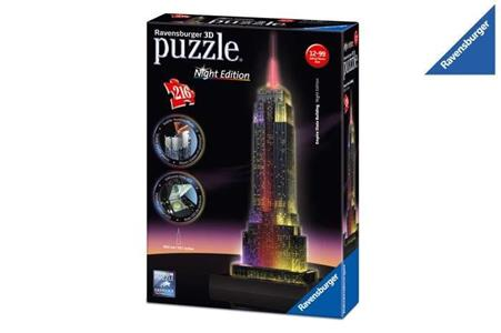 Empire State Building Puzzle 3D Building Night Edition Ravensburger (12566) - 2