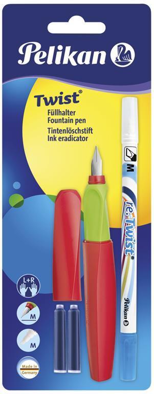 b7f0b3ffec Pelikan Twist con 2 Cartucce e Cancellatore D'inchiostro penna stilografica