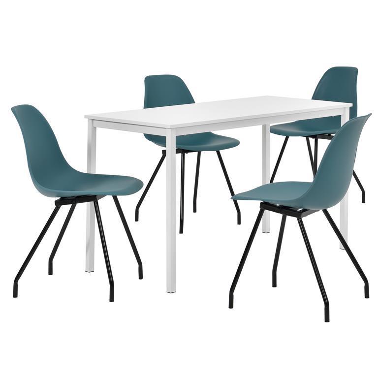 Tavolo Da Cucina Con 4 Sedie.Tavolo Da Pranzo Bianco Di Alta Qualita Con 4 Sedie Moderne