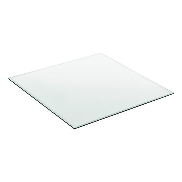 Tavolo Vetro Fai Da Te.Piano In Vetro 80 X 80 Cm Vetro Temperato Trasparente Esg Piano