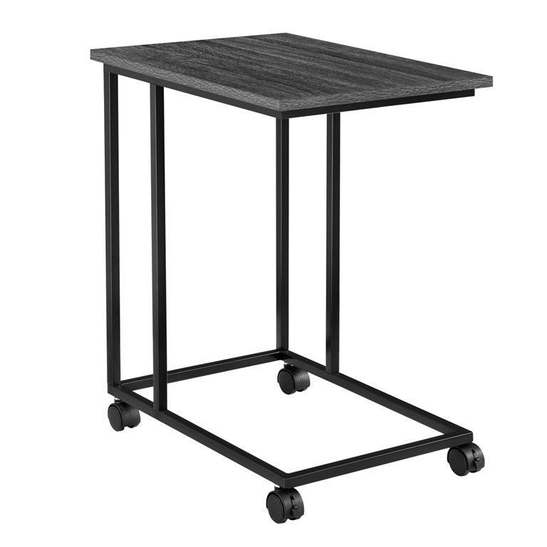 Tavolino Con Le Ruote.Tavolino Con Ruote Metallo 50 X 35 X 60 Cm Rovere Scuro Nero En