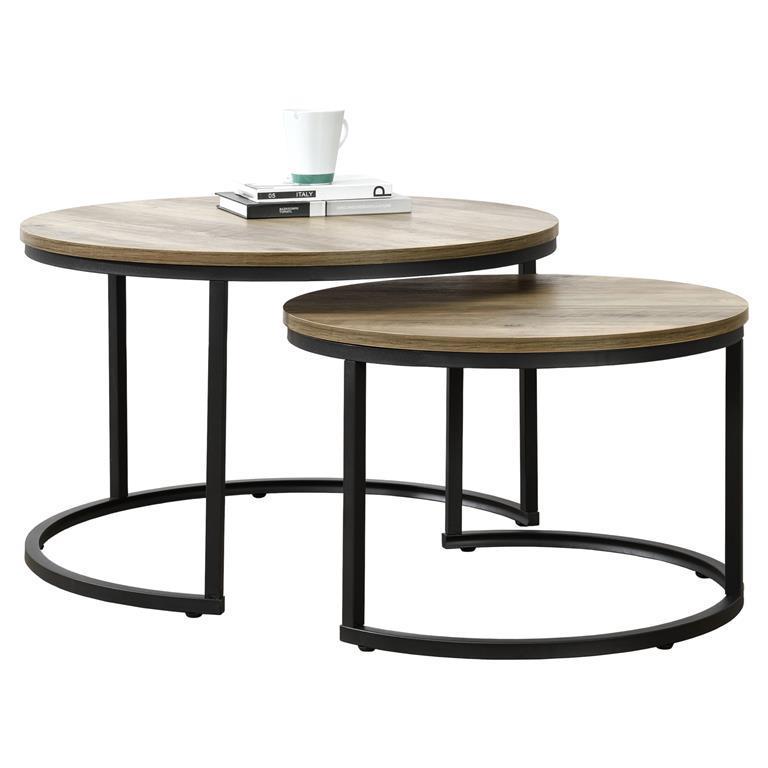 Tavolino da Salotto Rovere Bianco 100x60cm del Soggiorno Legno en.casa