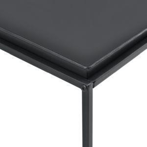 en.casa Tavolino Basso da caff/è 47 x 100 x 50cm Tavolino in Metallo da Salotto//Soggiorno//Sala di Attesa con Superficie AntiGraffio Nero Opaco