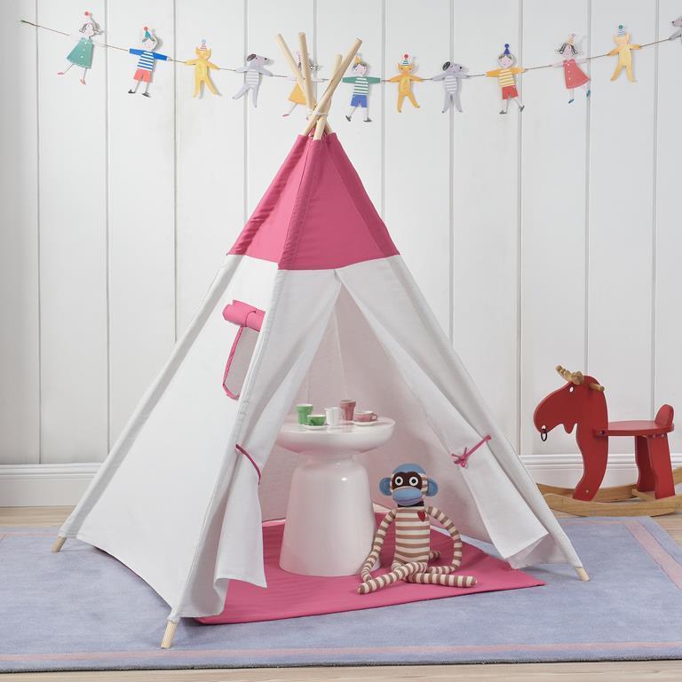 Tende Da Gioco Per Bambini.Tenda Da Gioco Per Bambini 150 X 120 X 120 Cm Bianco Rosa En