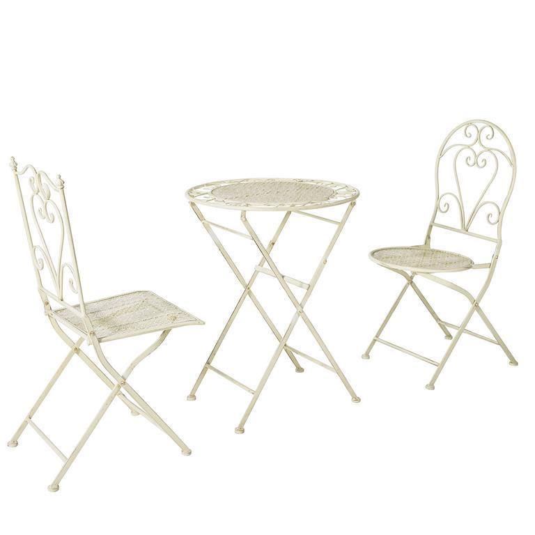 Set Tavolino Pieghevole da Balcone con 2 sedie Pieghevoli ...