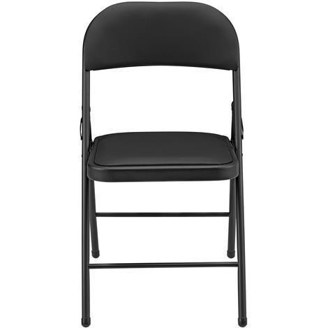 6 sedie da ufficio imbottito. nero. Sedia per conferenze ...