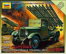 BM-13 Katjusha Soviet Rocket Launcher Plastic Kit 1:100 Model Z6128