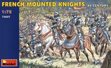 French Mounted Knights XV Century Plastic Kit 1:72 Model MIN72007