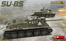 Su-85 Early Production Tank Mod.1944 with Interior Plastic Kit 1:35 Model BALMIN35204