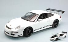 Porsche 911 Gt3 Rs 2007 White With Black Strips 1:18 Model WE8015W