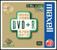 DVD+r 4.7Gb 16x slim Case conf.10s