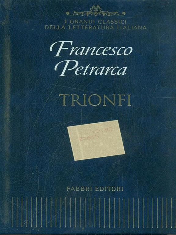 Calendario Cinema Petrarca.Trionfi
