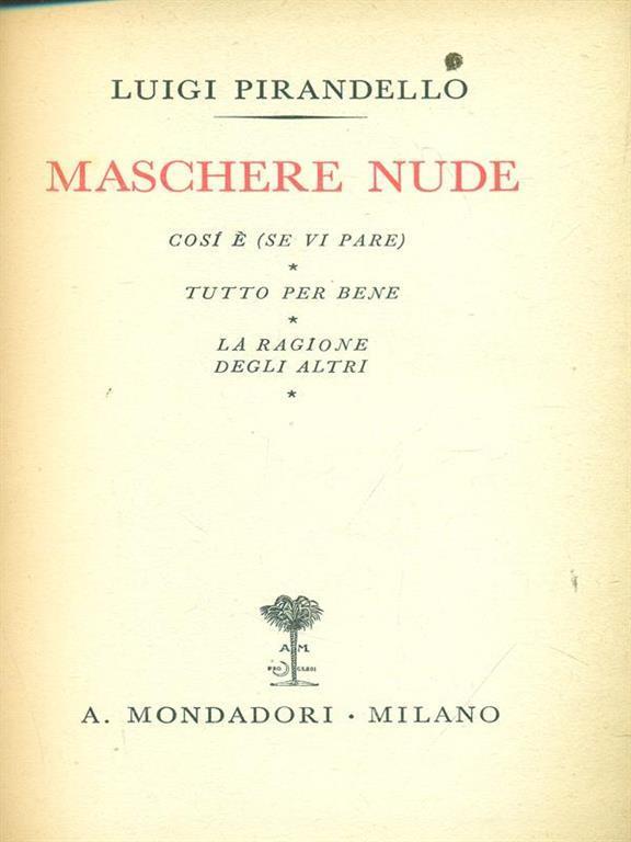 Maschere nude Tutto il teatro di Pirandello X - Luigi