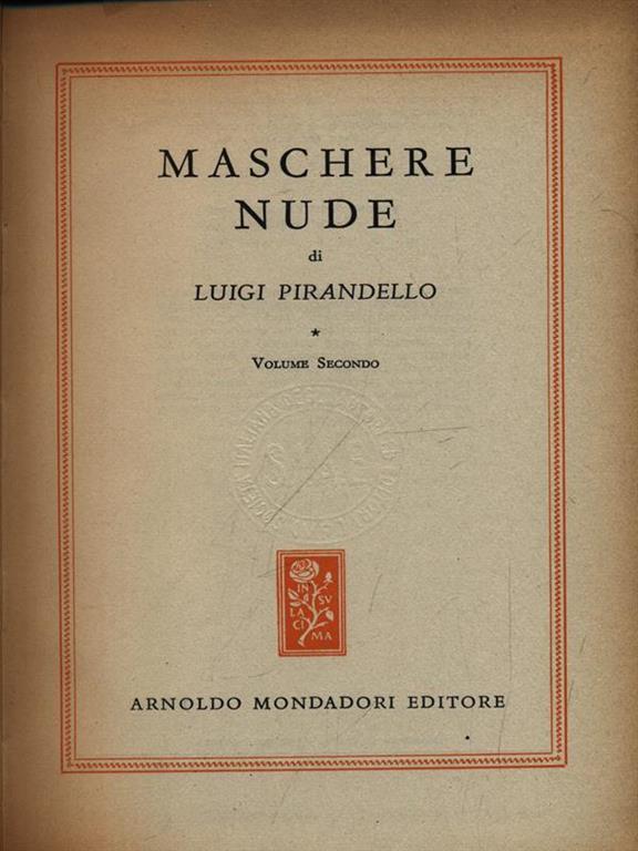 Maschere Nude. Volume 1 - Luigi Pirandello - Libro Usato