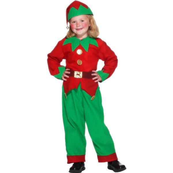 Costume Elfo di Babbo Natale Bambino Small 4-6 Anni 115 cm a 128 cm ... 5d22feca9581