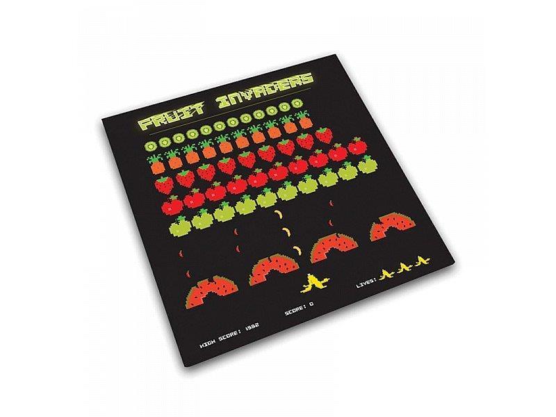 Tagliere Da Cucina In Vetro Temperato Fruit Space Invaders Joseph ...