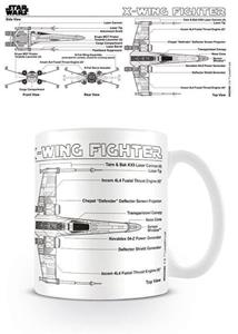 Tazza Star Wars. X-Wing Fighter Sketch - 2