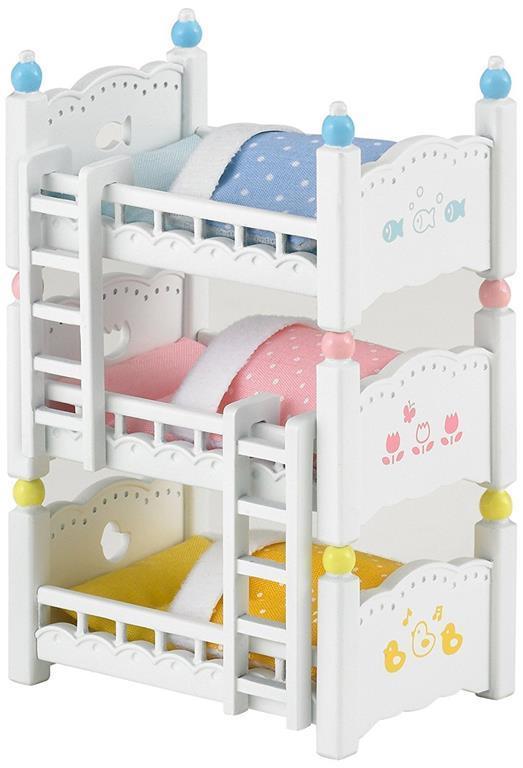 Letto A Castello Triple.Sylvanian Families Letto A Castello Triplo Triple Bunk Beds 4448
