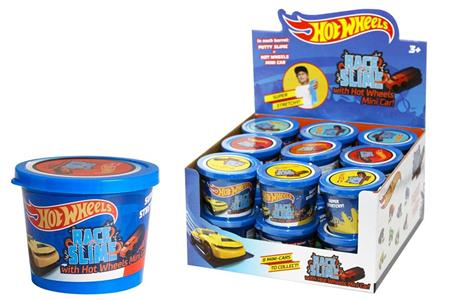 Slime Hot Wheels con mini auto