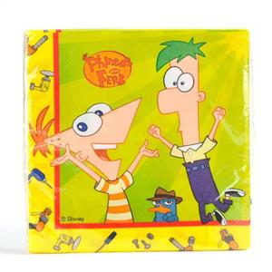 Set 20 Tovaglioli di Carta Phineas and Ferb - 2