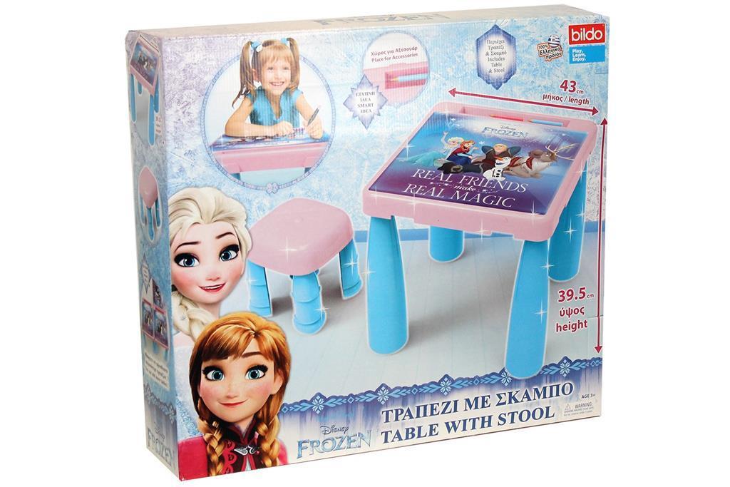 Tavolino con sgabello di frozen bildo casa e cucina ibs