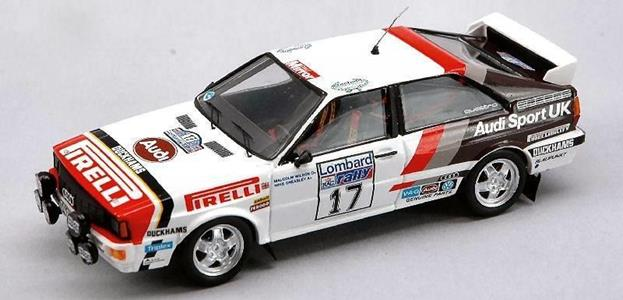 Trofeu TF1615 AUDI QUATTRO N.17 10th RAC 1982 M.WILSON-GREASLEY 1:43 Auto Rally