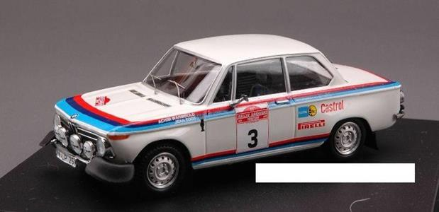 Trofeu TF1717 BMW 2002 N.3 RETIRED (ACCIDENT) S.REMO 1973 WARMBOLD-J.TODT 1:43 Modellino