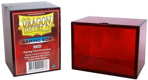 DRAGON SHIELD Gaming Box Scatola porta carte a incastro capienza 100 carte imbustate Red