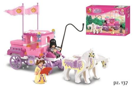 Sluban M38-B0250. Girl's Dream. La Carrozza Della Regina 137 Pz
