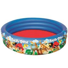 Piscina 3 Anelli Angry Birds 152x30cm Mare Piscina Gonfiabile 282 Litri Bestway