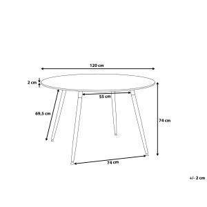 Tavolo tondo in legno e piano in MDF bianco 120cm BOVIO